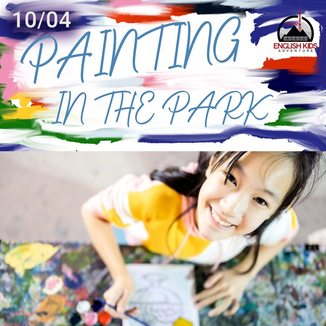 Tokyo English Kids Adventure - Painting in the Park